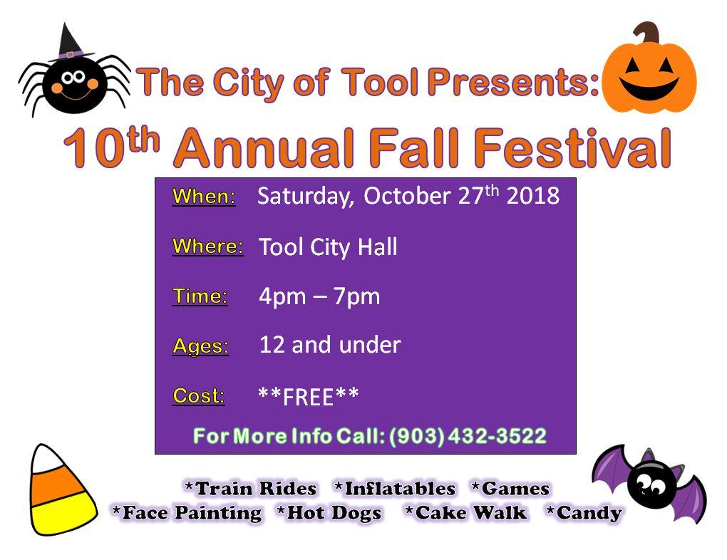 10th Annual Fall Festival – City of Tool