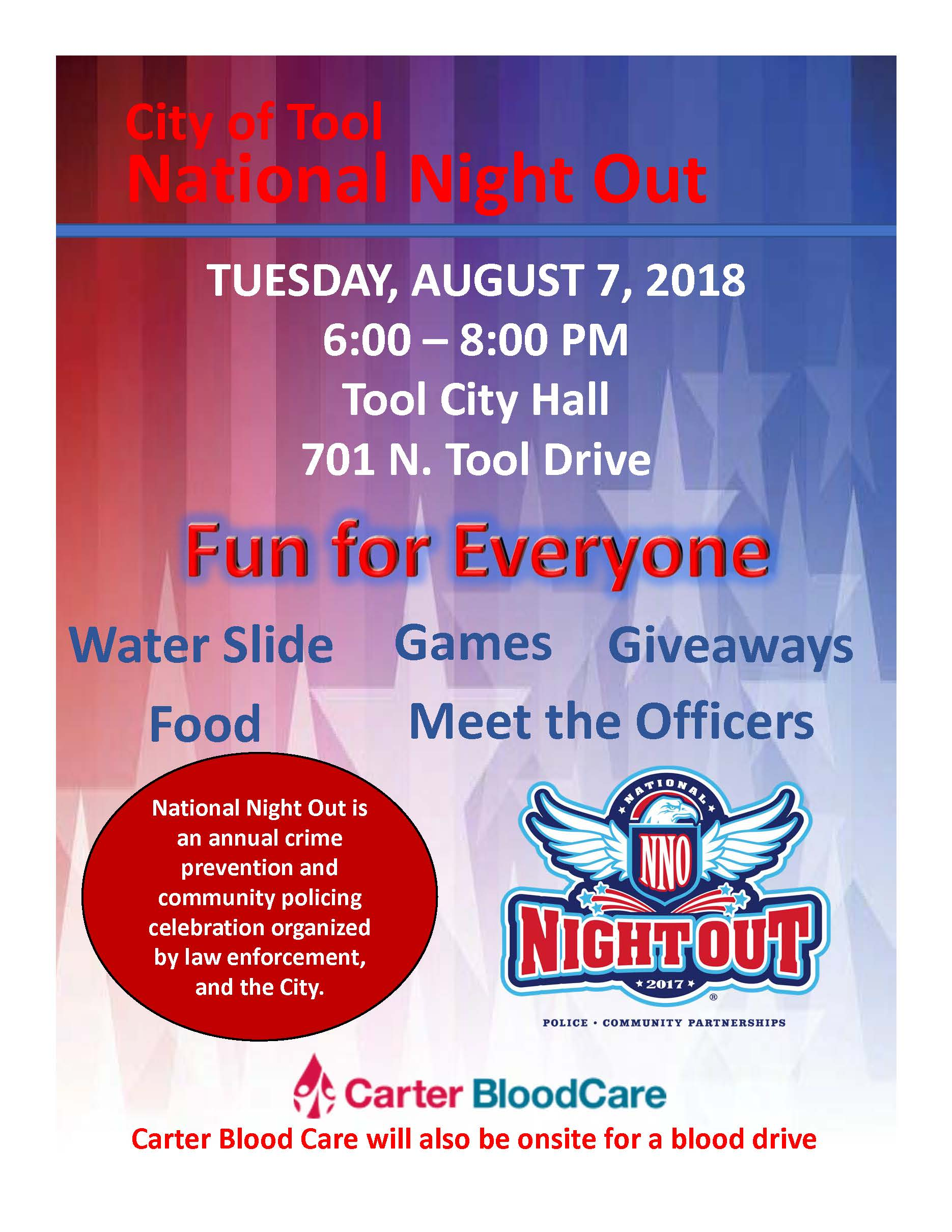 National Night Out – City of Tool